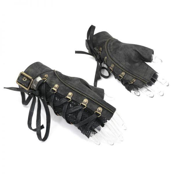Post Apocalyptic Handschuhe in destroyed Lederoptik
