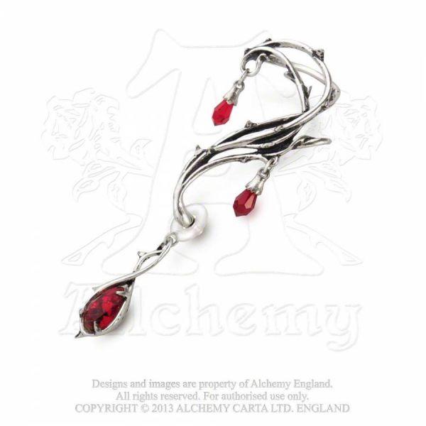 Ohrring mit roten Kristallen - Passion