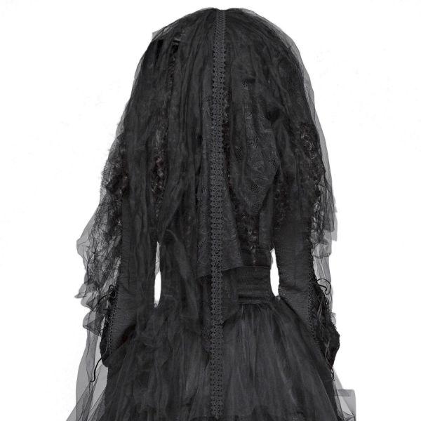 Gothic Brautschleier mit Hut im Grunge Style