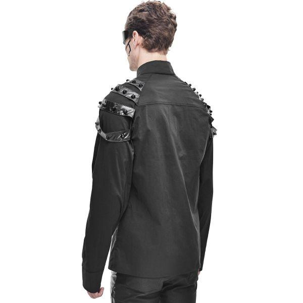 Devil Fashion Hemd im Cyberpunk Look mit Epauletten