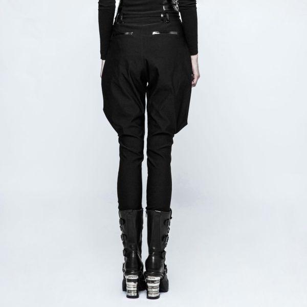 High Waist Reiterhose mit Schnallen im Uniform Look