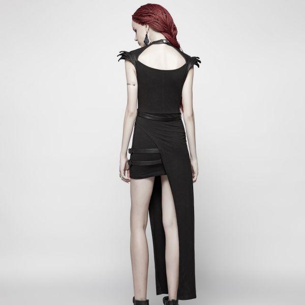 Minikleid im Bondage Harness Look mit Seitenschürze
