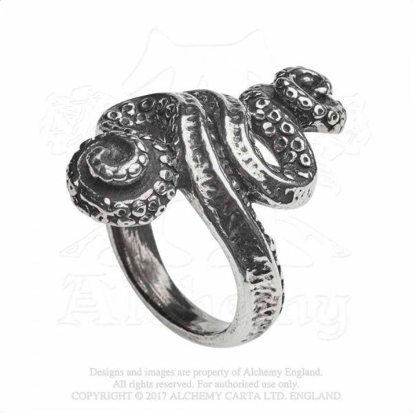 Mystische Krake Fantasy Ring - Kraken