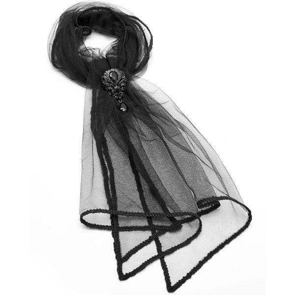 Tüll Schal mit viktorianischer Brosche