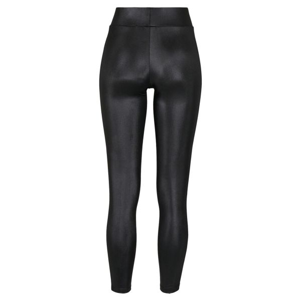 High Waist Leggings in Lederoptik
