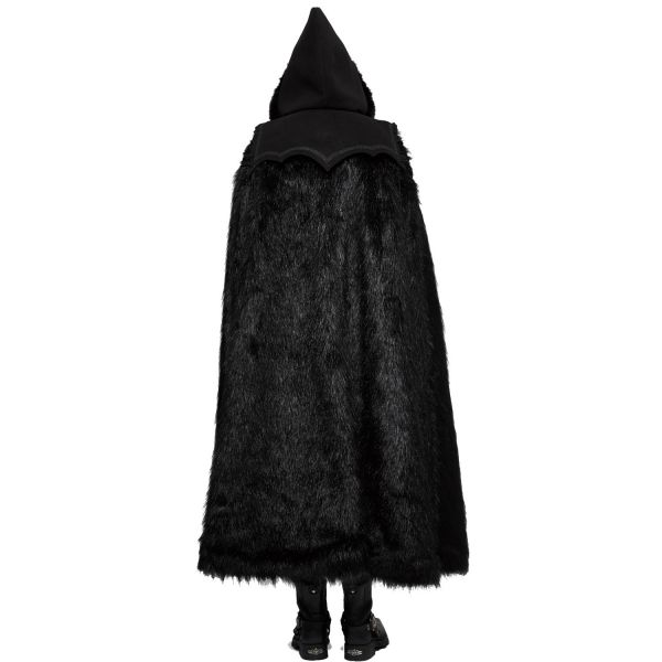 Gothic Mantel Umhang mit Kapuze und Schnürung