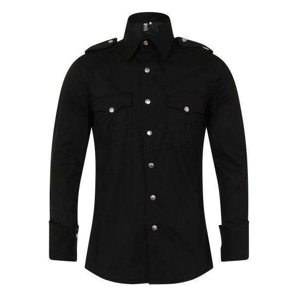 Military Hemd im Gothic Look mit Epauletten