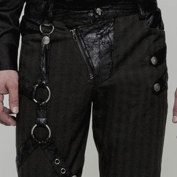 Slim Fit Hose im Nadelstreifen Look mit Beinholster