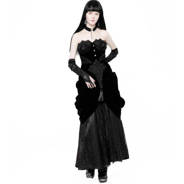 Viktorianische Corsage im Burlesque Look mit Häkelspitze