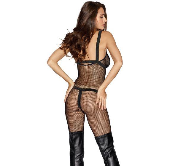 Netz ouvert Bodystocking mit Harness im Fessel-Look