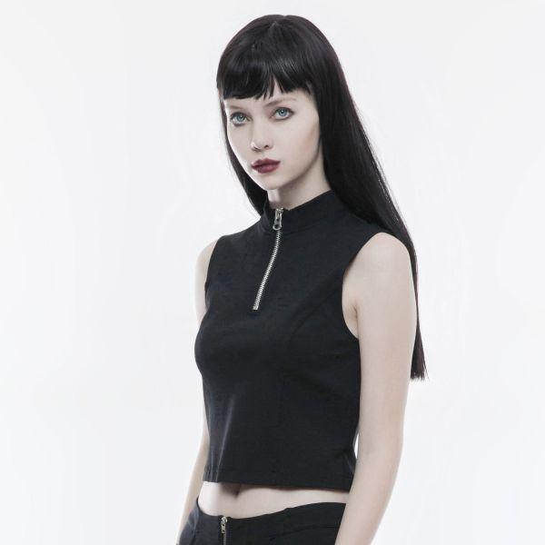 Top mit Rückenschnürung im Daily Goth Style
