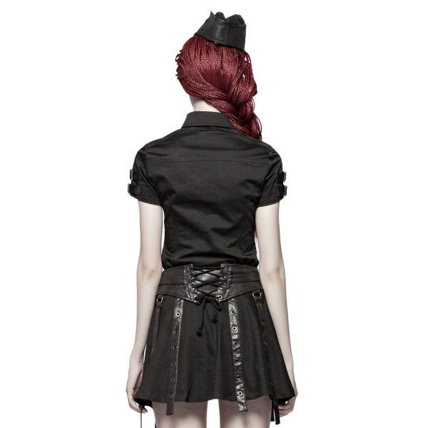 Uniform Bluse mit Schnallen