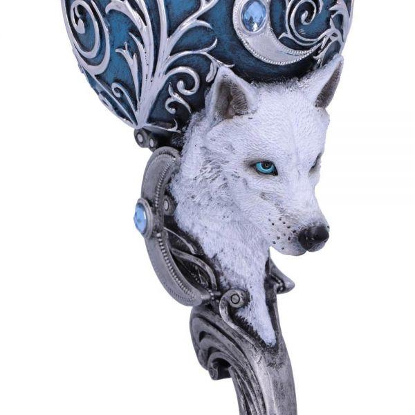 Wild at Heart Weinkelche mit Wolfskopf im Fantasy Look