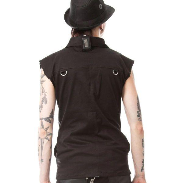 Ärmelloses Hemd im Metal Style mit Nieten