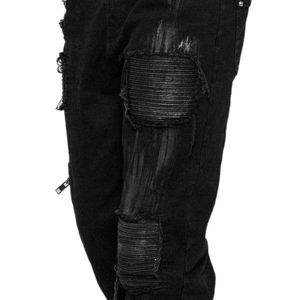 Hose mit Rissen im Destroyed Style mit Flecken Muster