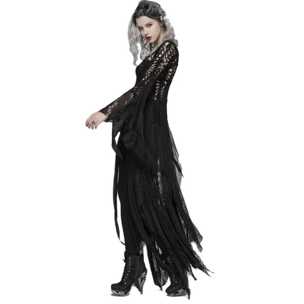 Coachella Zipfel Kleid in gehäkeltem Boho Style