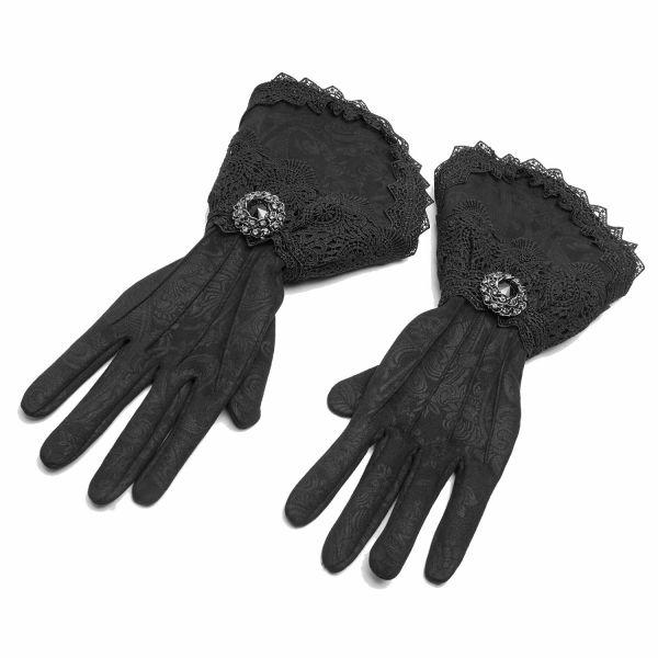 Elegante Handschuhe im Aristokraten Look mit Spitze