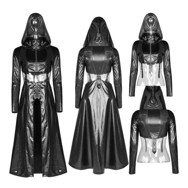 Cyber Goth Bolero Mantel im sexy Wetlook