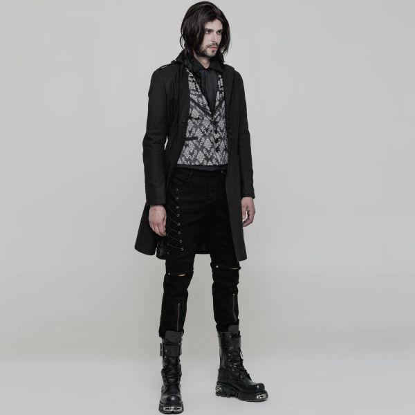Hose im Gothic Style mit Schlitzen und Schnürung
