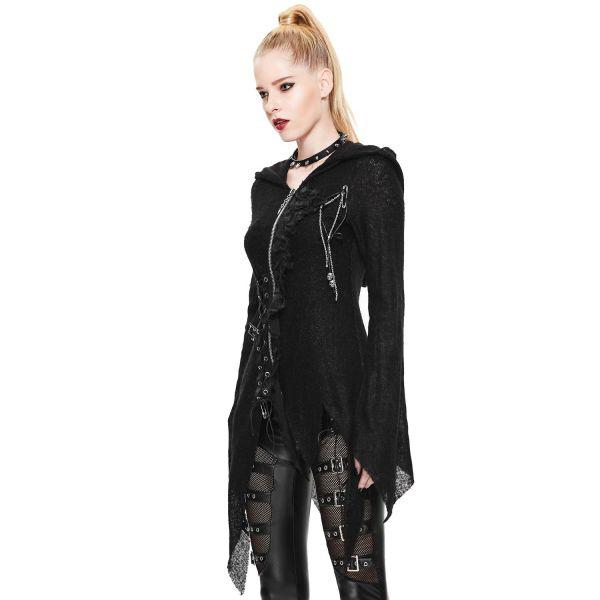 Cardigan mit Kapuze im Witchcraft Style