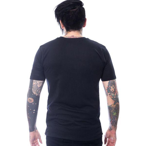 Gothic T-Shirt mit Zipper und Ösen