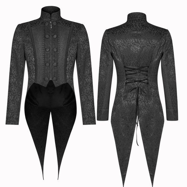 Viktorianische Frack Jacke im Brokat-Look