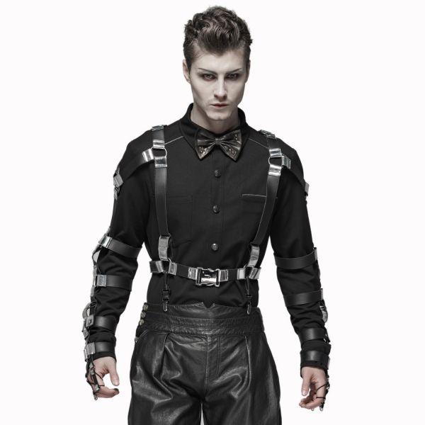 Hemd im Military Style mit breiten Arm Manschetten