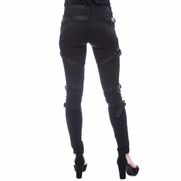 Bondage Skinny Jeans im Warrior Style
