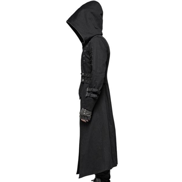 Post Apocalyptic Warrior Mantel mit Oversize Kapuze