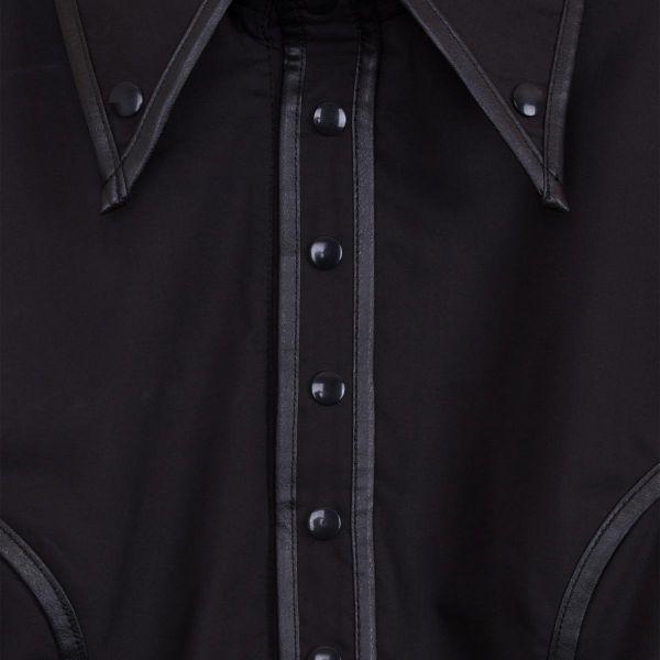 Uniform Hemd mit Epauletten und breiten Manschetten