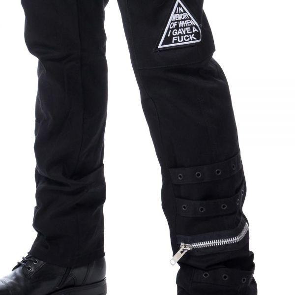Hose mit großen Taschen und Drudenfuß Patches