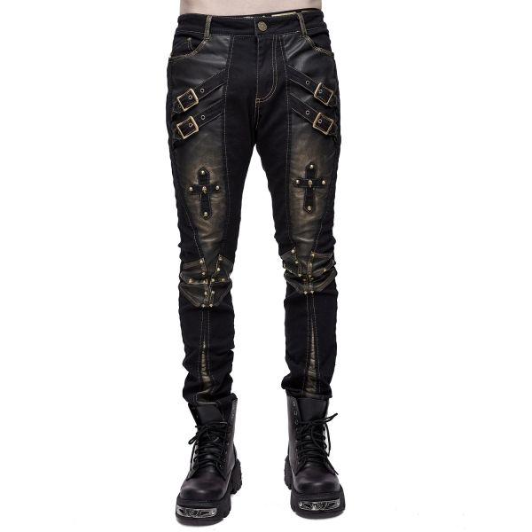 Cyberpunk Hose im Steampunk Grunge-Style mit Kreuzen
