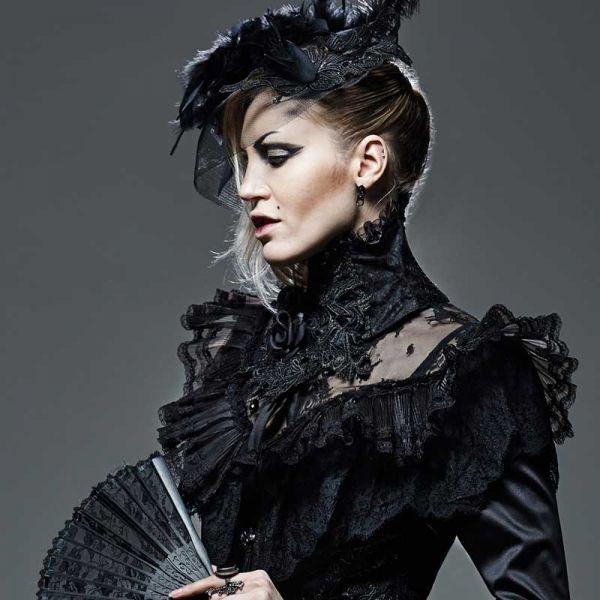 Extravagantes Kragen Halsband Black Roses