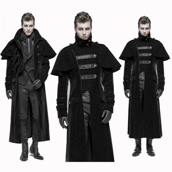 Samt Kutschermantel im Uniform Look
