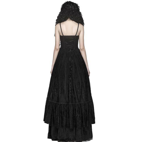 Prinzessin Kleid im Corsagen-Look mit Häkelspitze