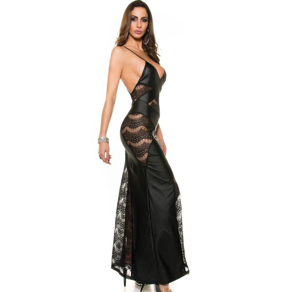 Wetlook Meerjungfrau Kleid mit transparenter Spitze