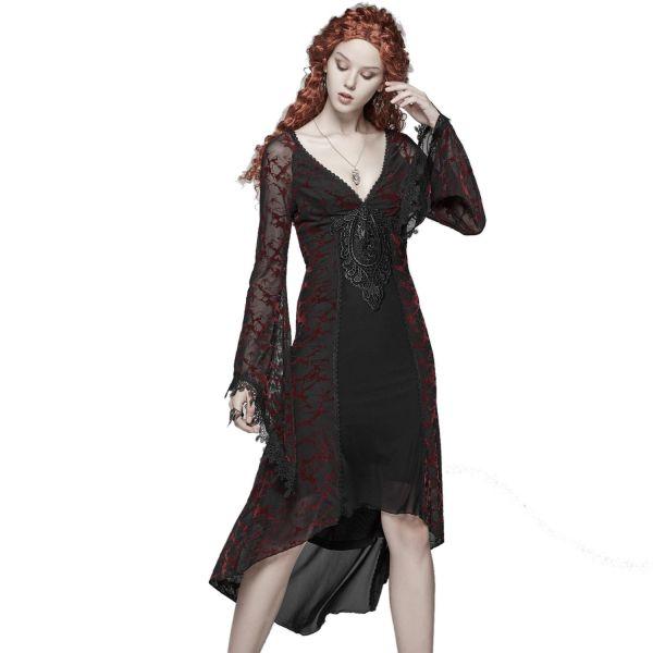 Dark Romantic Layering-Kleid mit sexy Ausschnitt