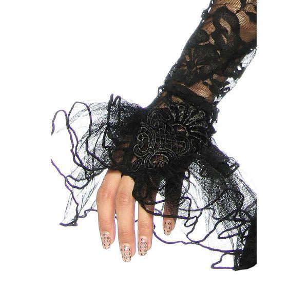 One-Arm Spitzen Bolero mit Halsband und Schnürung
