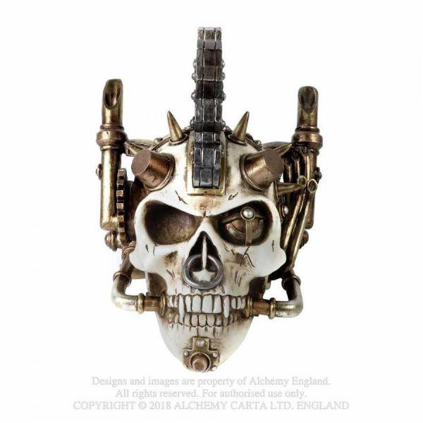 Steampunk Totenschädel mit Spikes und Nasenring