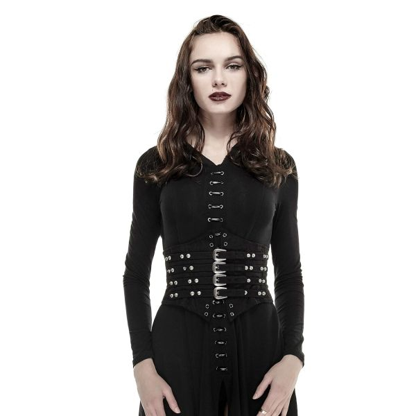 Gothic Style Taillengürtel mit Nieten und Schnallen