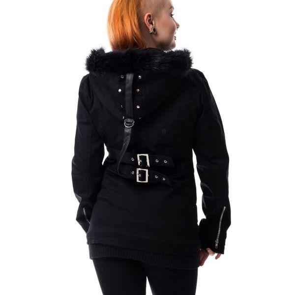 Sweat Jacke mit Fellkapuze und Schnallen - Sara Jacket