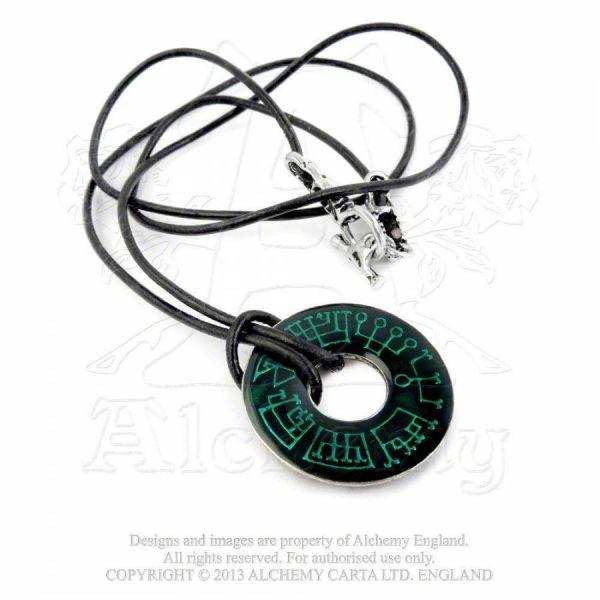 Lederband mit Anhänger - Angel Ring