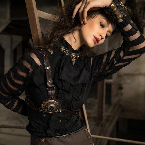 Steampunk Harness und Taillengürtel mit Leuchtfunktion