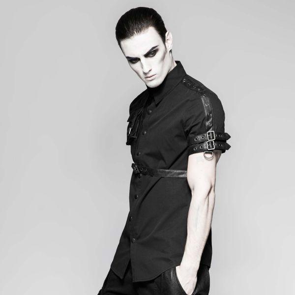 Warrior Hemd mit Schnallen und Tasche aus Kunstleder
