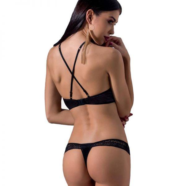 Sexy Dessous Set mit Halbschalen BH und Spitze