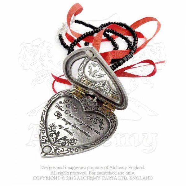 Kette mit Herz Amulett - Reliquary Heart