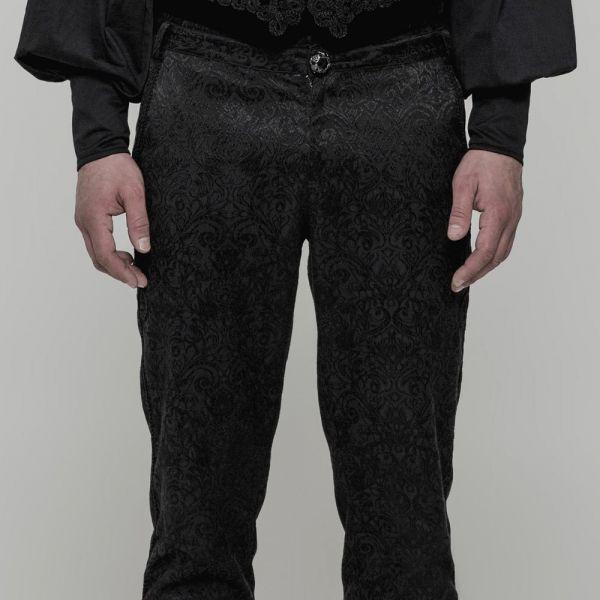 Viktorianische High Waist Hose mit Brokatmuster