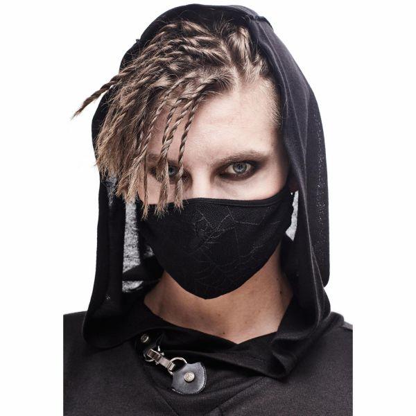 Spinne auf Netz Gesichtsmaske mit Filter-Fach