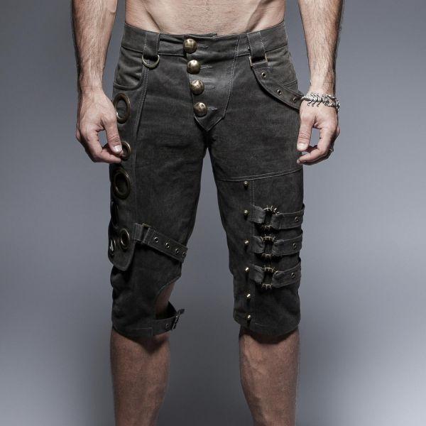 Shorts mit Taschen im Steampunk Look