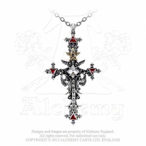 Halskette mit Kreuz Anhänger - Illuminati Cross